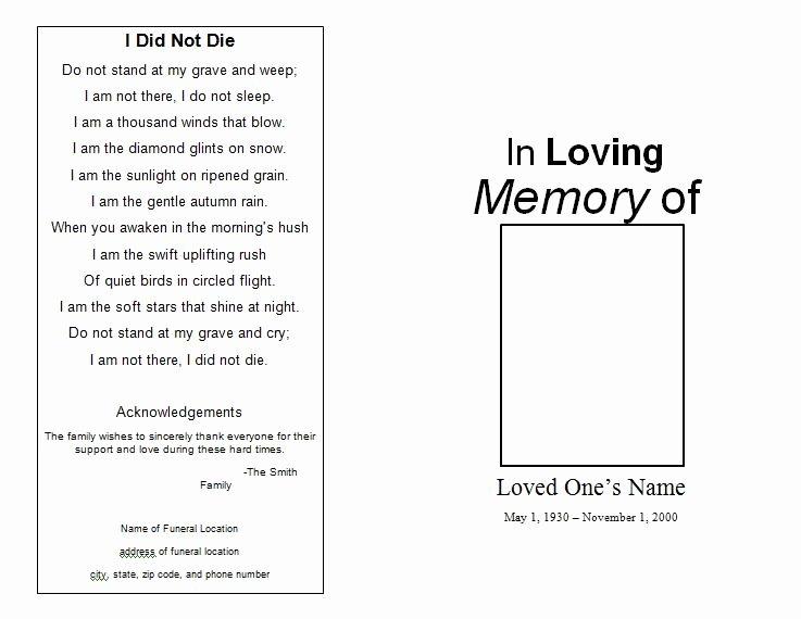 Free Funeral Invitation Template Unique the Funeral Memorial Program Blog Free Funeral Program