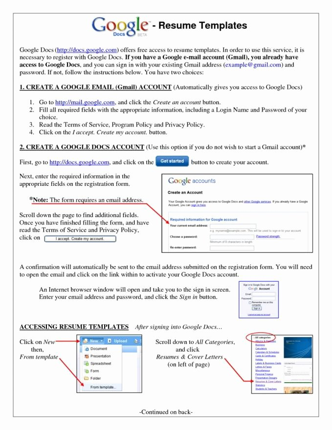Free Google Sites Template Best Of Resume Template for Google Docs