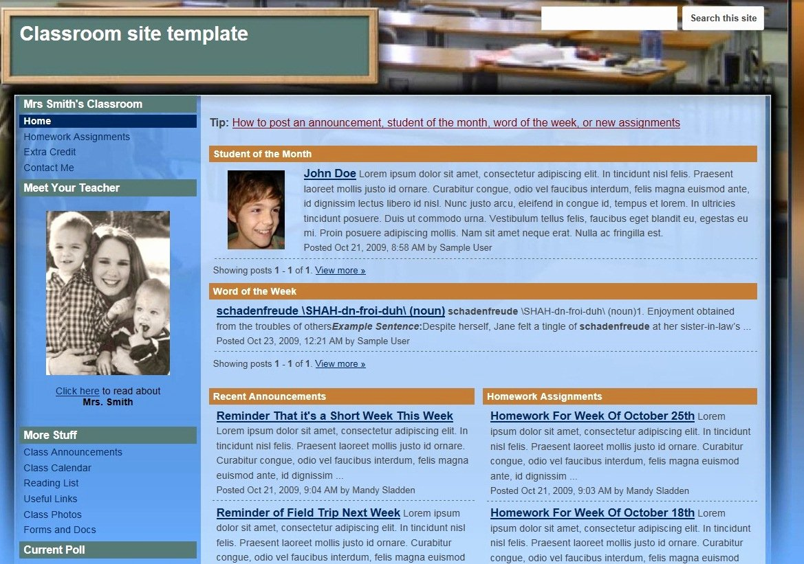Free Google Sites Template Lovely Google Sites Review for Teachers