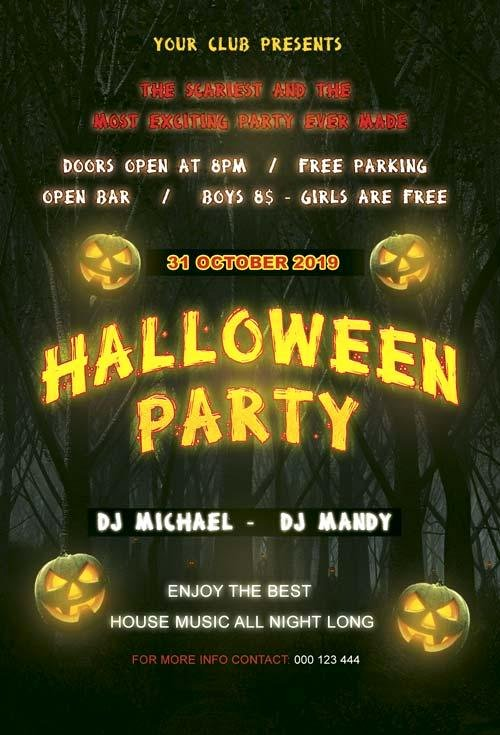 Free Halloween Flyer Template Awesome 20 Free Halloween Flyers Psd Templates