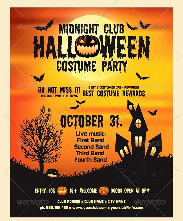 Free Halloween Flyer Template Beautiful 21 Halloween Flyer Designs and Templates Download
