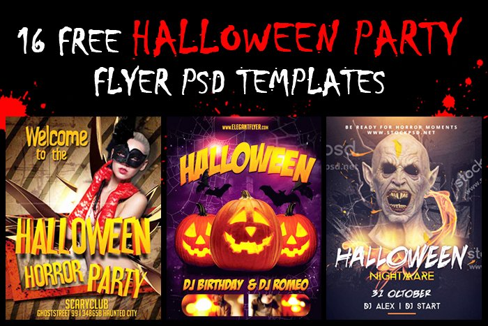 Free Halloween Flyer Template Elegant 16 Halloween Party Flyer Psd Templates Free Download