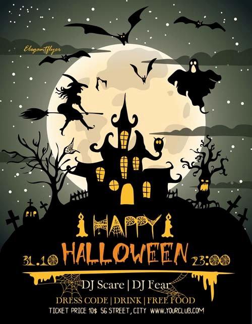 Free Halloween Flyer Template Inspirational Happy Halloween Free Flyer Template Download Free