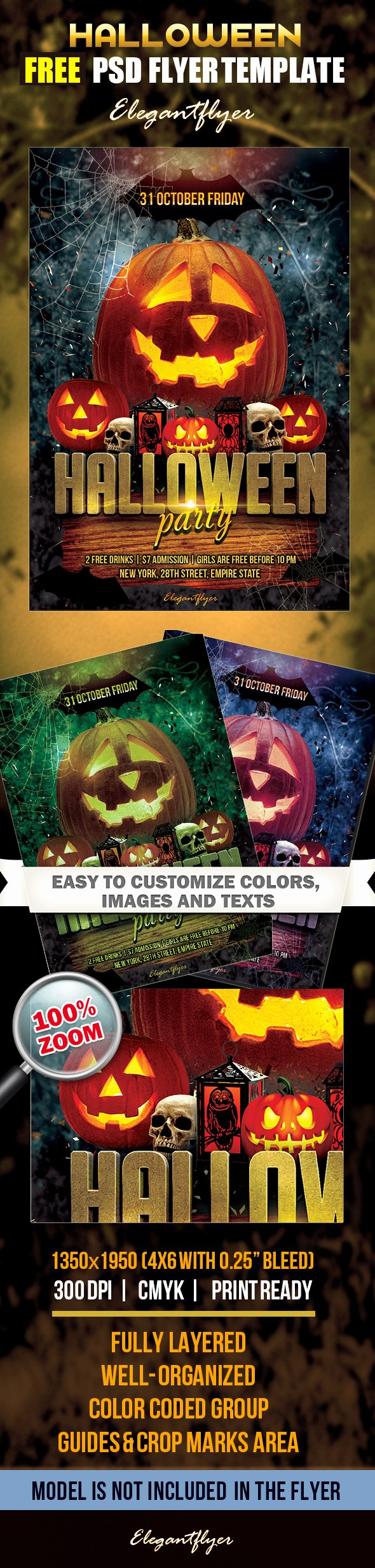 Free Halloween Flyer Template Luxury 20 Free Psd Halloween Flyer Templates