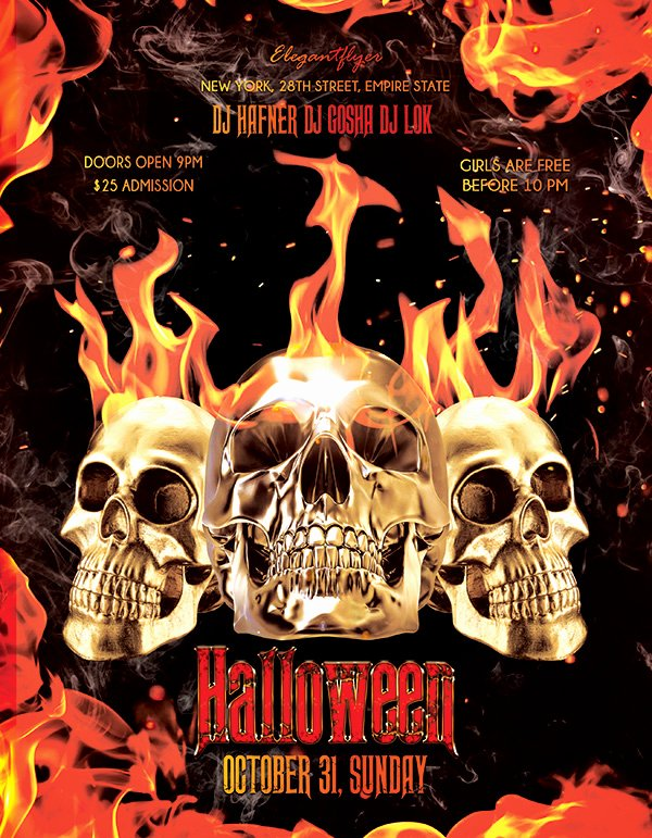 Free Halloween Flyer Template Luxury 60 Free Halloween Posters Invitation Flyers & Print