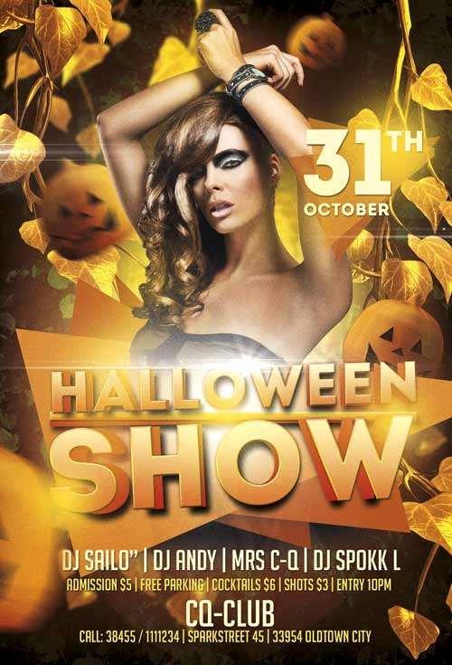 Free Halloween Flyer Template Luxury Download the Free Halloween Show Psd Flyer Template for