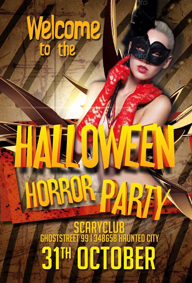 Free Halloween Flyer Template Unique Free Halloween Party Psd Flyer Template Download Psd for