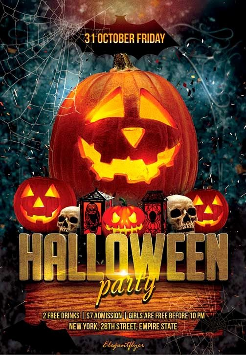 Free Halloween Flyer Template Unique Halloween Party Free Flyer Psd Template
