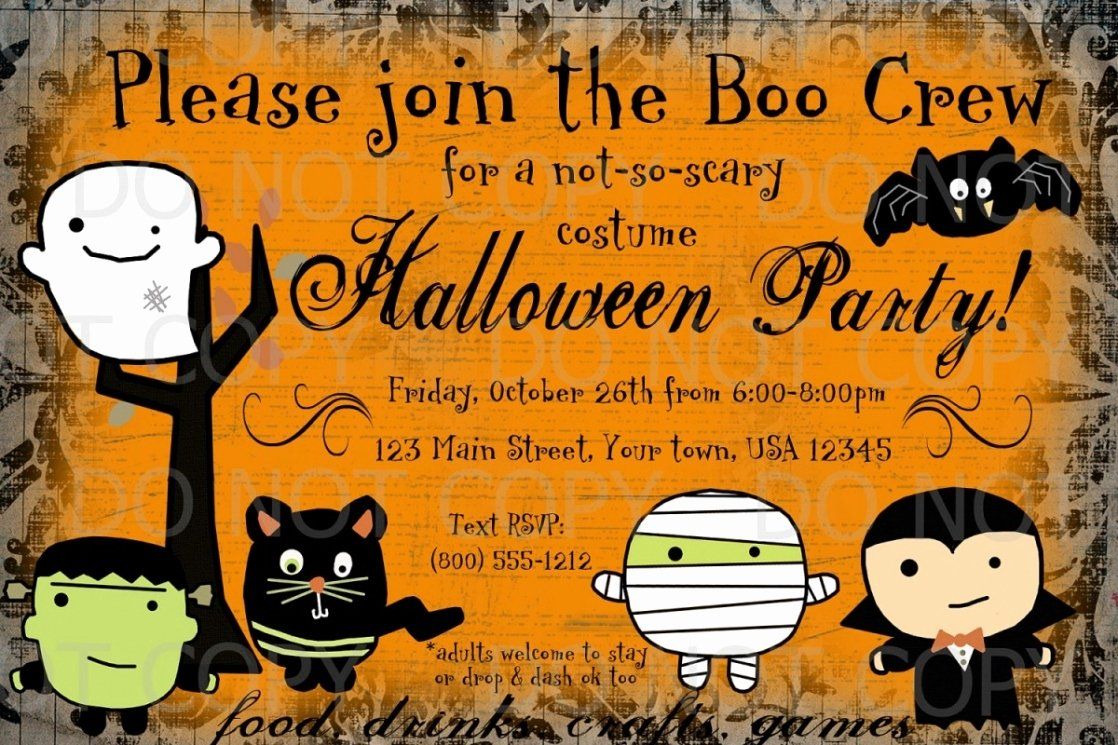 Free Halloween Invitation Template Awesome Free Halloween Invitations Prints