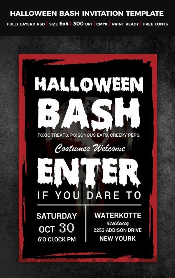 Free Halloween Invitation Template Beautiful 35 Halloween Invitation Free Psd Vector Eps Ai