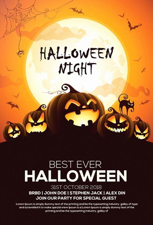 Free Halloween Invitation Template Elegant 60 Premium & Free Psd Halloween Flyer Templates