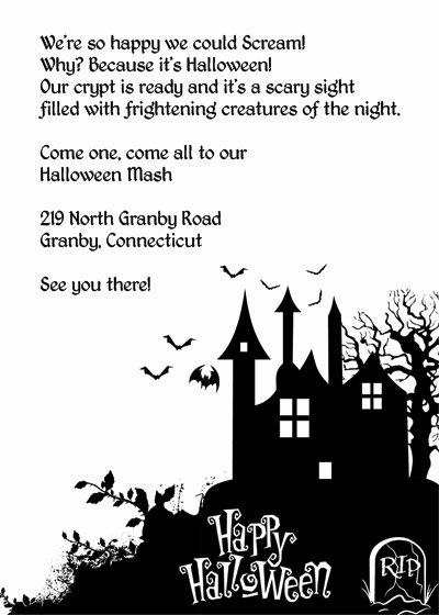 Free Halloween Invitation Template Elegant Halloween Haunted House Printable Invitation ← Wedding
