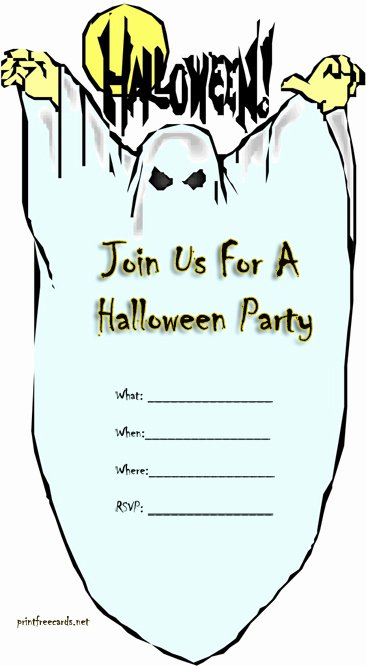 Free Halloween Invitation Template Fresh Free Printable Halloween Party Invitations – Festival
