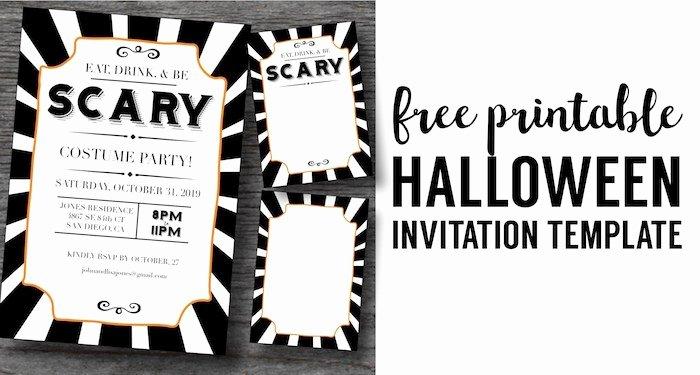 Free Halloween Invitation Template Fresh Halloween Invitations Free Printable Template Paper