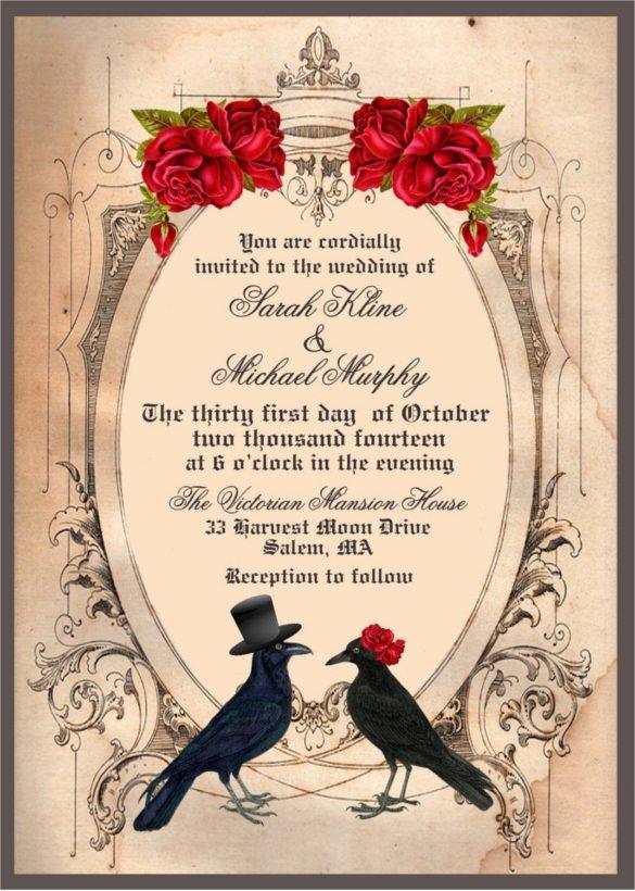 Free Halloween Invitation Template Inspirational 22 Halloween Wedding Invitation Templates – Free Psd Ai