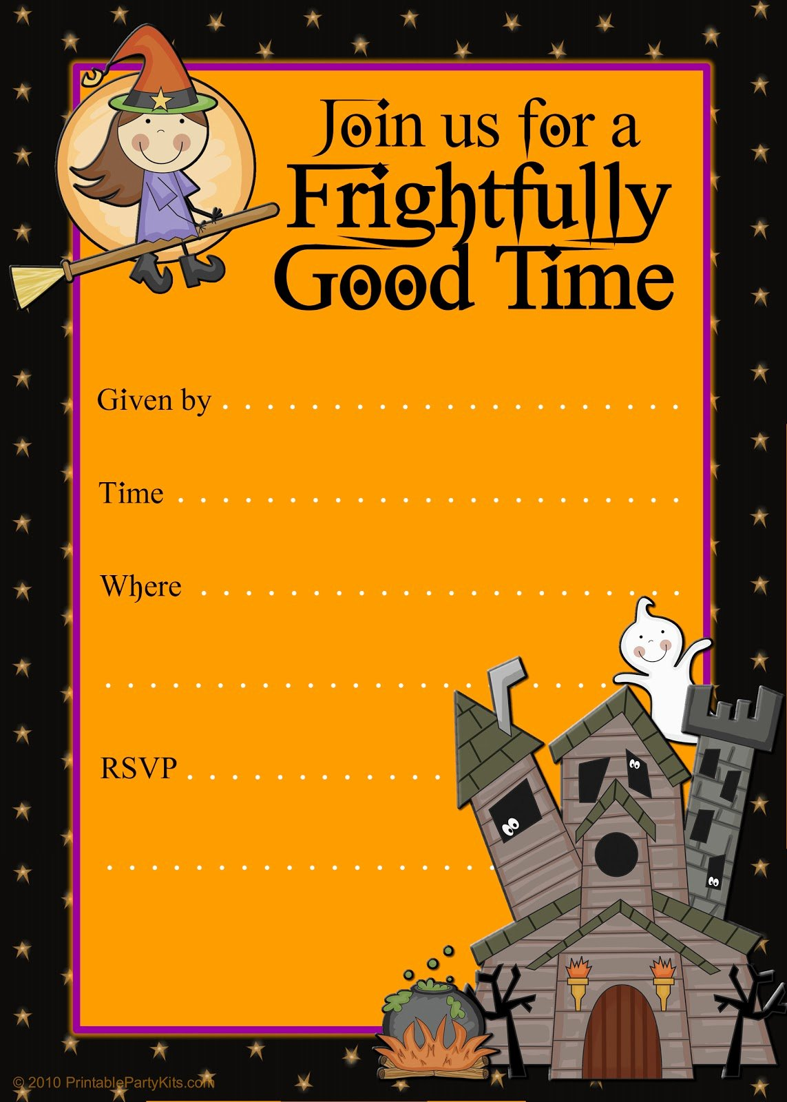 Free Halloween Invitation Template Inspirational Free Printable Party Invitations Printable Good Witch