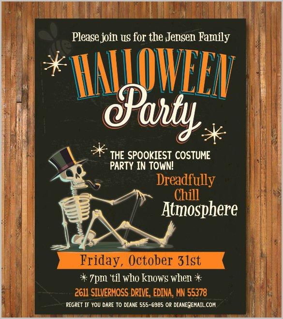 Free Halloween Invitation Template Lovely 35 Halloween Invitation Free Psd Vector Eps Ai
