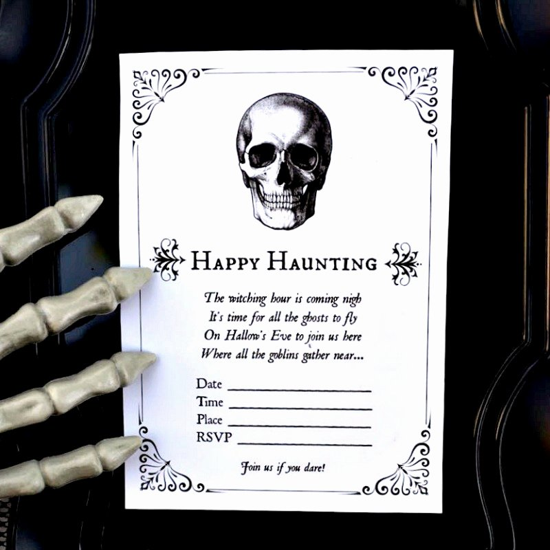Free Halloween Invitation Template Lovely Free Printable Halloween Invitations for Your Spooky soiree