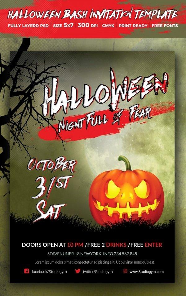 Free Halloween Invitation Template New 35 Halloween Invitation Free Psd Vector Eps Ai