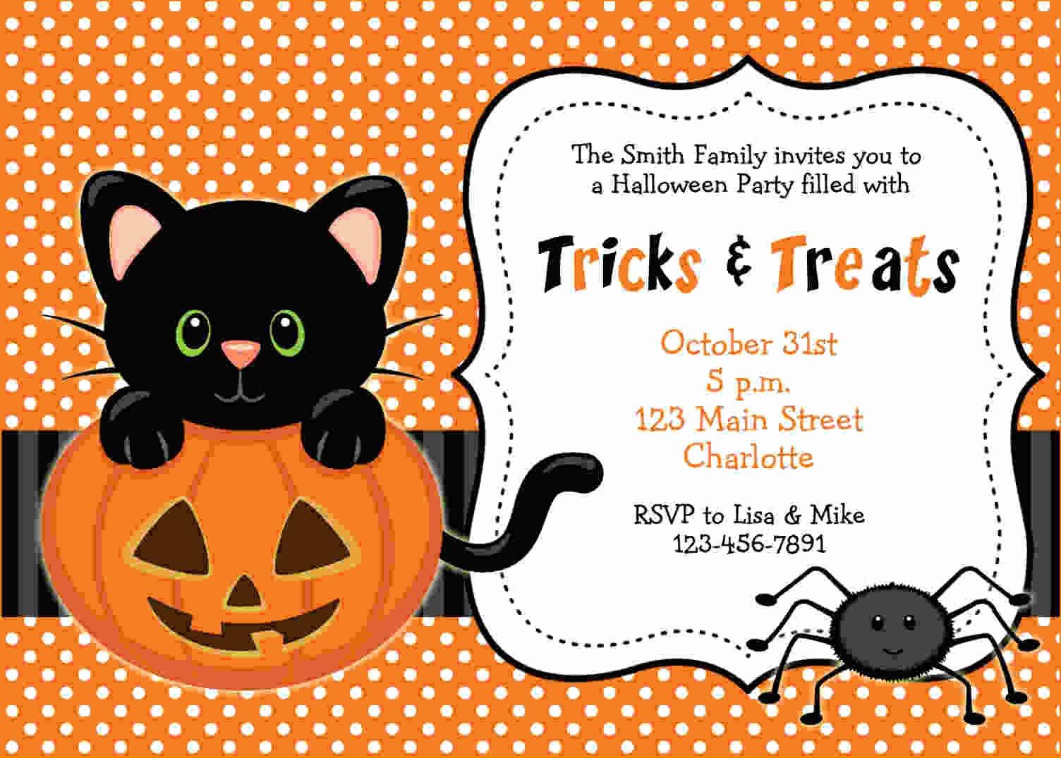 Free Halloween Invitation Template Unique Free Printable Halloween Invitations Templates