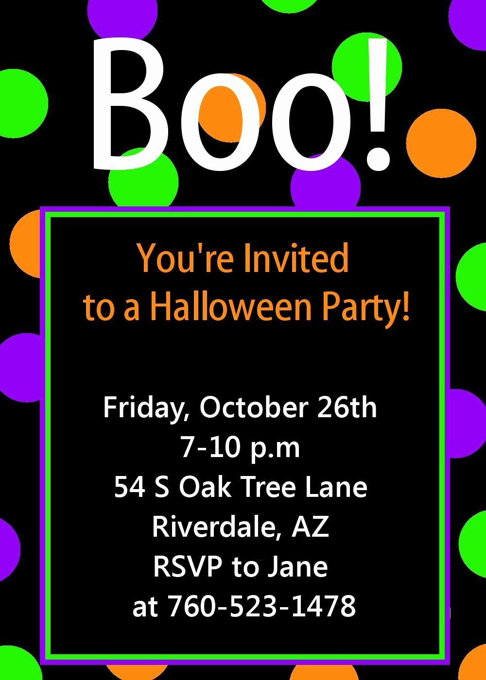 Free Halloween Invitation Template Unique Halloween Party Invitation Printable