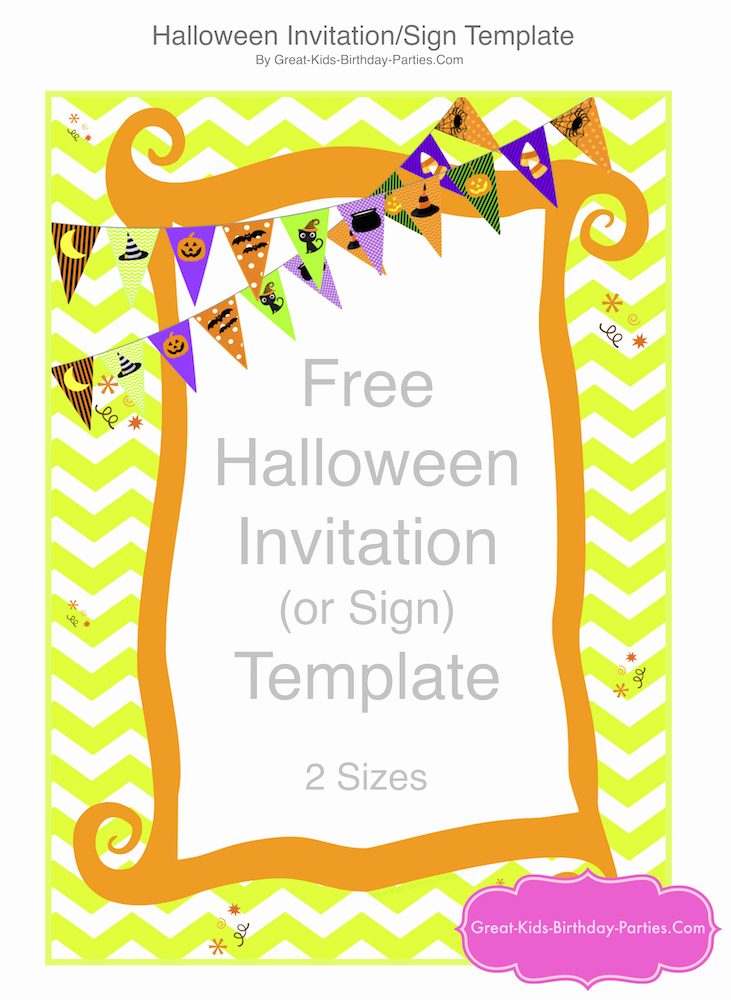Free Halloween Invitation Template Unique Looking for Ideas for Kids Birthday Parties