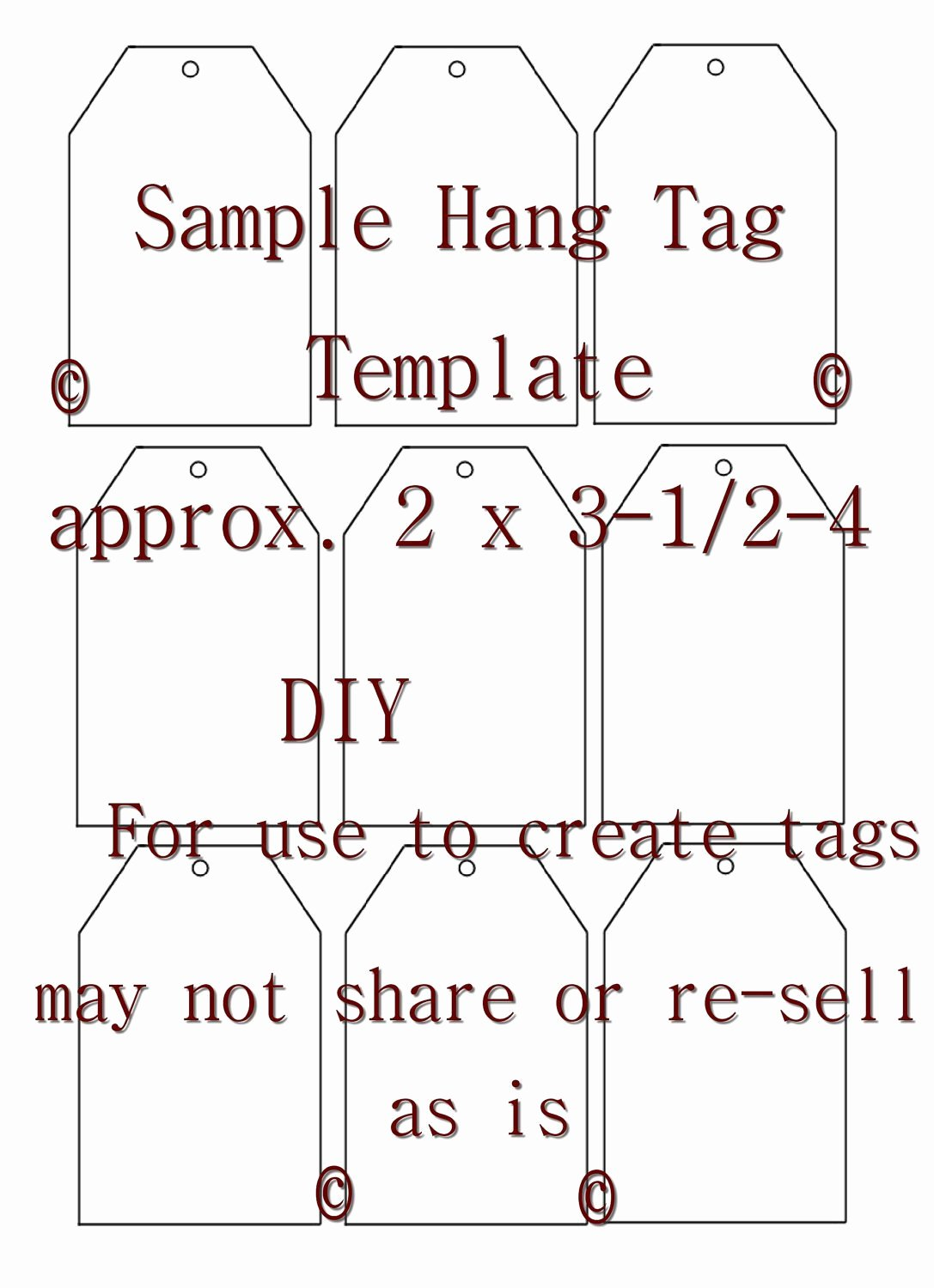 Free Hang Tag Template Elegant Unavailable Listing On Etsy