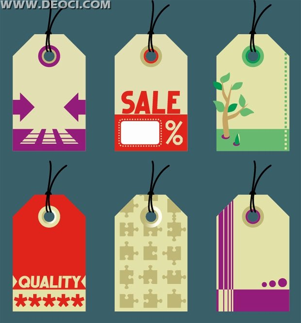 Free Hang Tag Template Unique 6 Modity Sale Hang Tags Design Template Vector Material