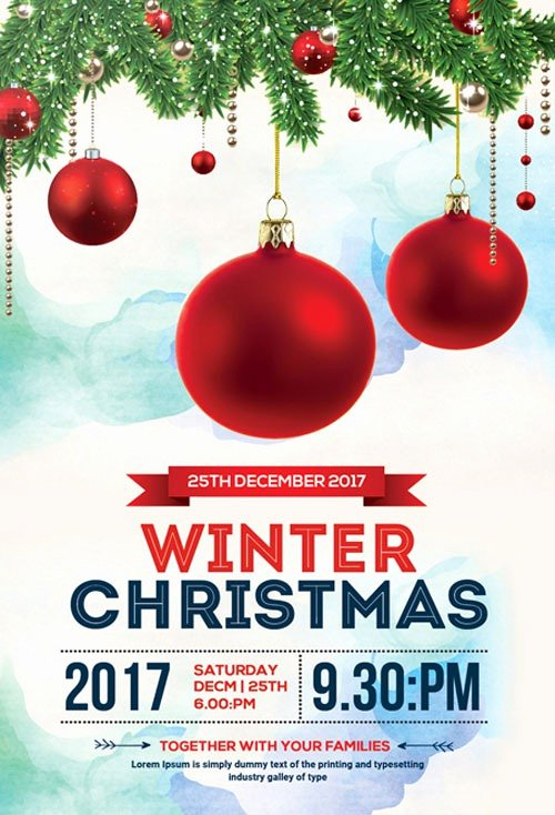 Free Holiday Flyer Template Awesome Freepsdflyer