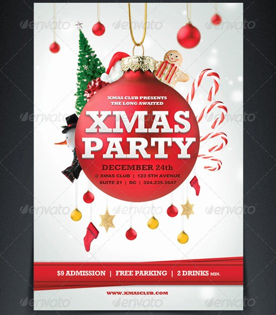 Free Holiday Flyer Template Beautiful 18 Free Christmas Flyer Design Templates