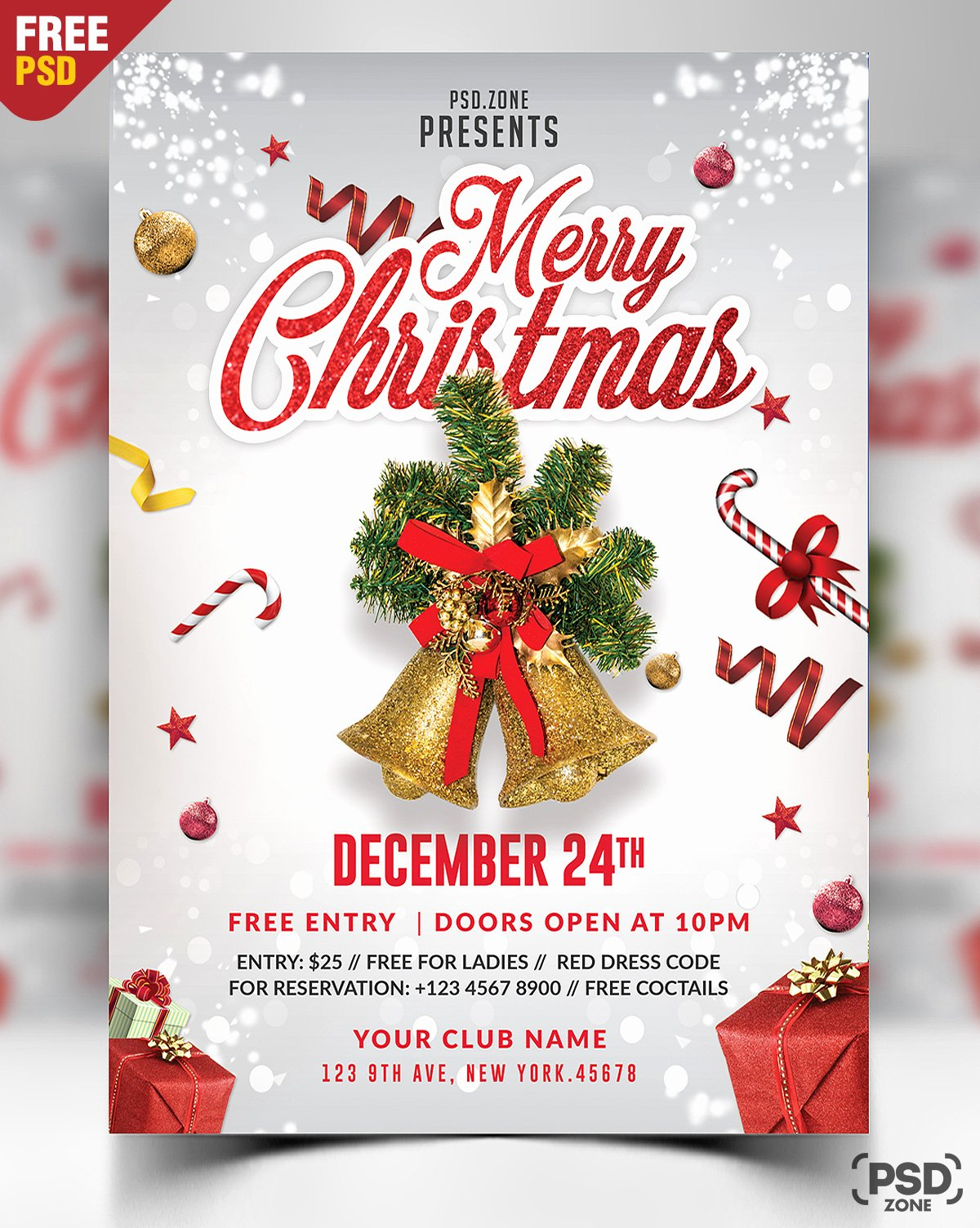 Free Holiday Flyer Template Elegant 160 Free Christmas Design Downloads Perfect for Your