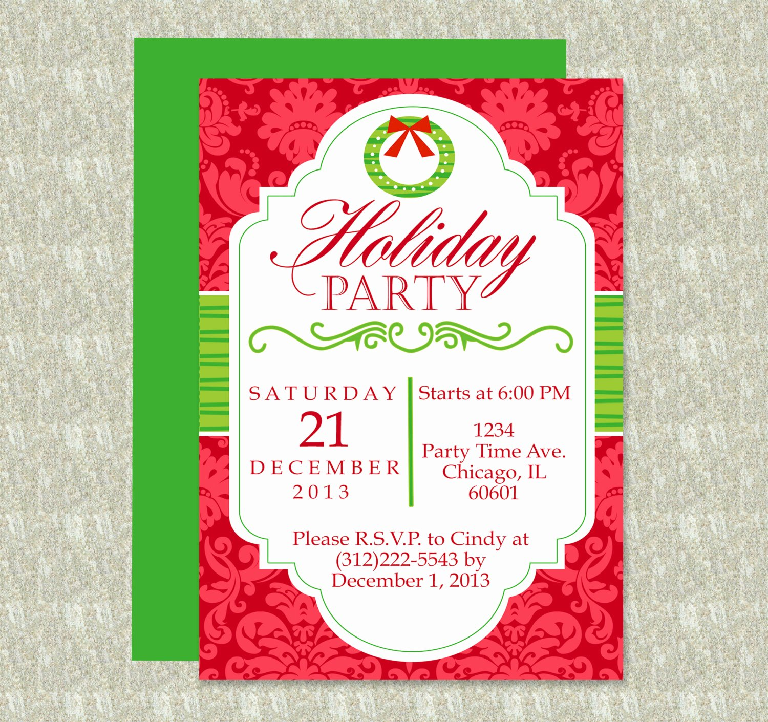 Free Holiday Flyer Template Elegant Holiday Party Invitation Editable Template Microsoft Word