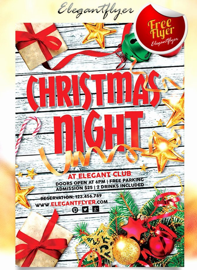 Free Holiday Flyer Template Lovely Best Free Christmas and New Year Psd Flyers to Promote