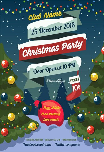 Free Holiday Flyer Template New Psd Flyer for Christmas Tree Party – by Elegantflyer