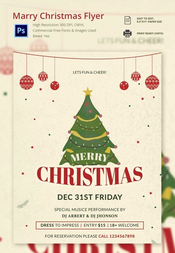 Free Holiday Flyer Template Unique 30 Free Christmas Templates & Designs Psd Word