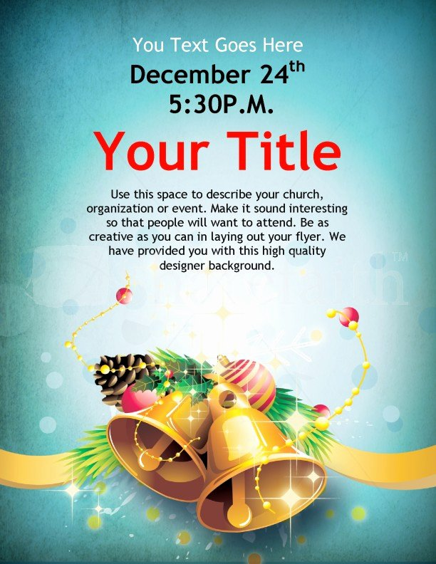 Free Holiday Flyer Template Unique Christmas Bells Flyer Template Template