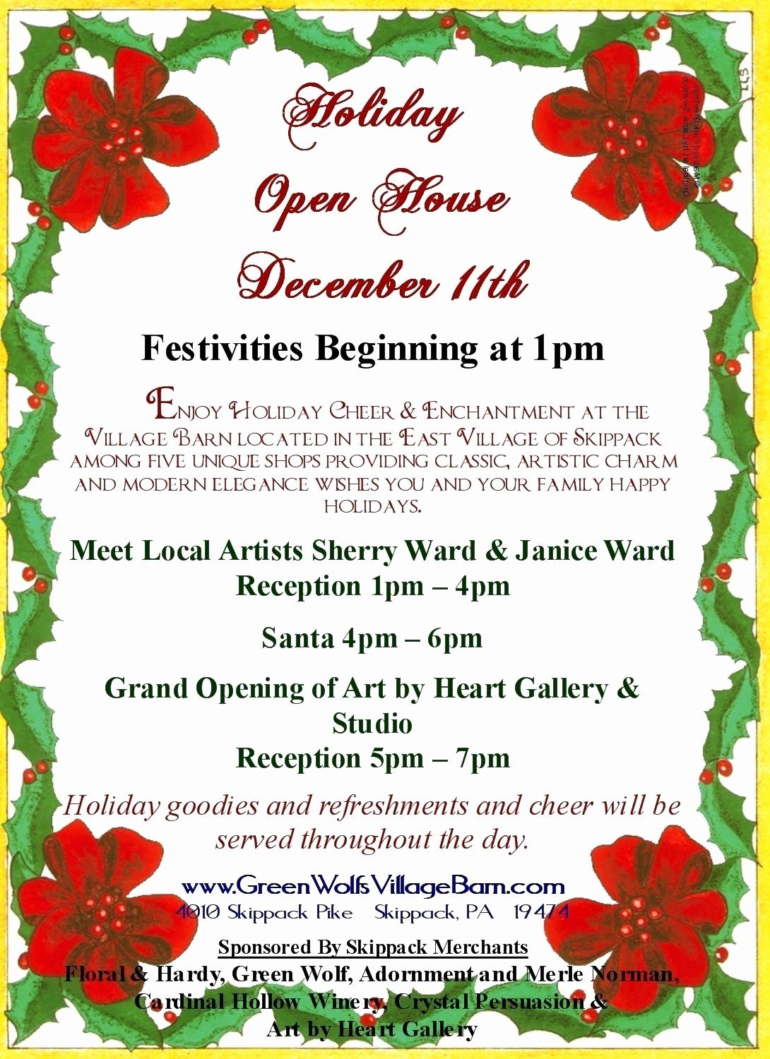 Free Holiday Flyer Template Unique Christmas Open House Flyer Template Free Templates Data