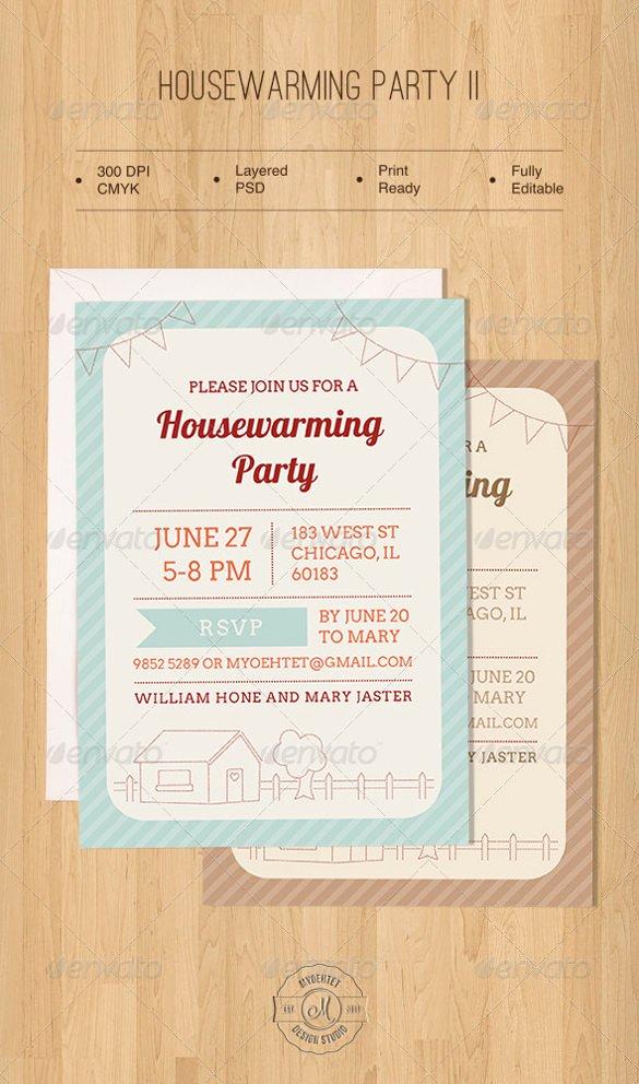 Free Housewarming Invitation Template Beautiful 35 Housewarming Invitation Templates Psd Vector Eps