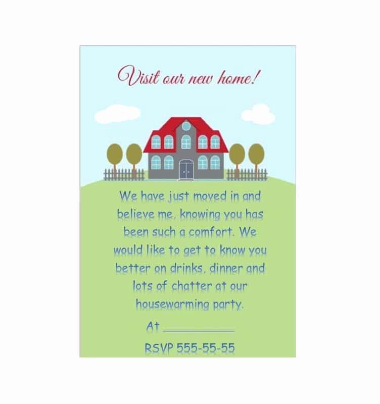 Free Housewarming Invitation Template Beautiful 40 Free Printable Housewarming Party Invitation Templates