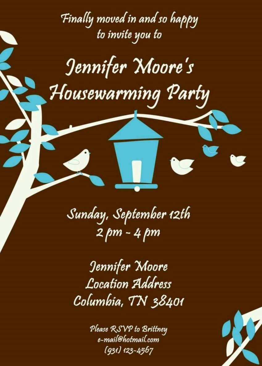 Free Housewarming Invitation Template Elegant Free Printable Housewarming Invitation Templates