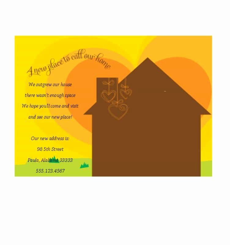 Free Housewarming Invitation Template New 40 Free Printable Housewarming Party Invitation Templates