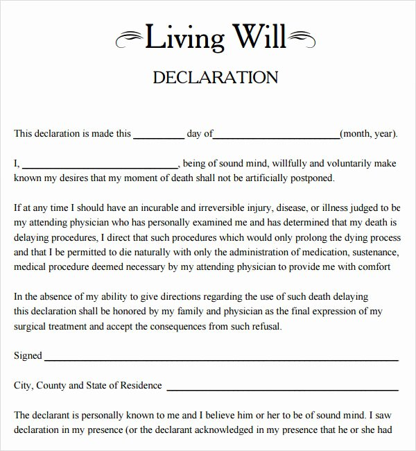 Free Illinois Will Template Elegant Living Will Template 8 Download Free Documents In Pdf