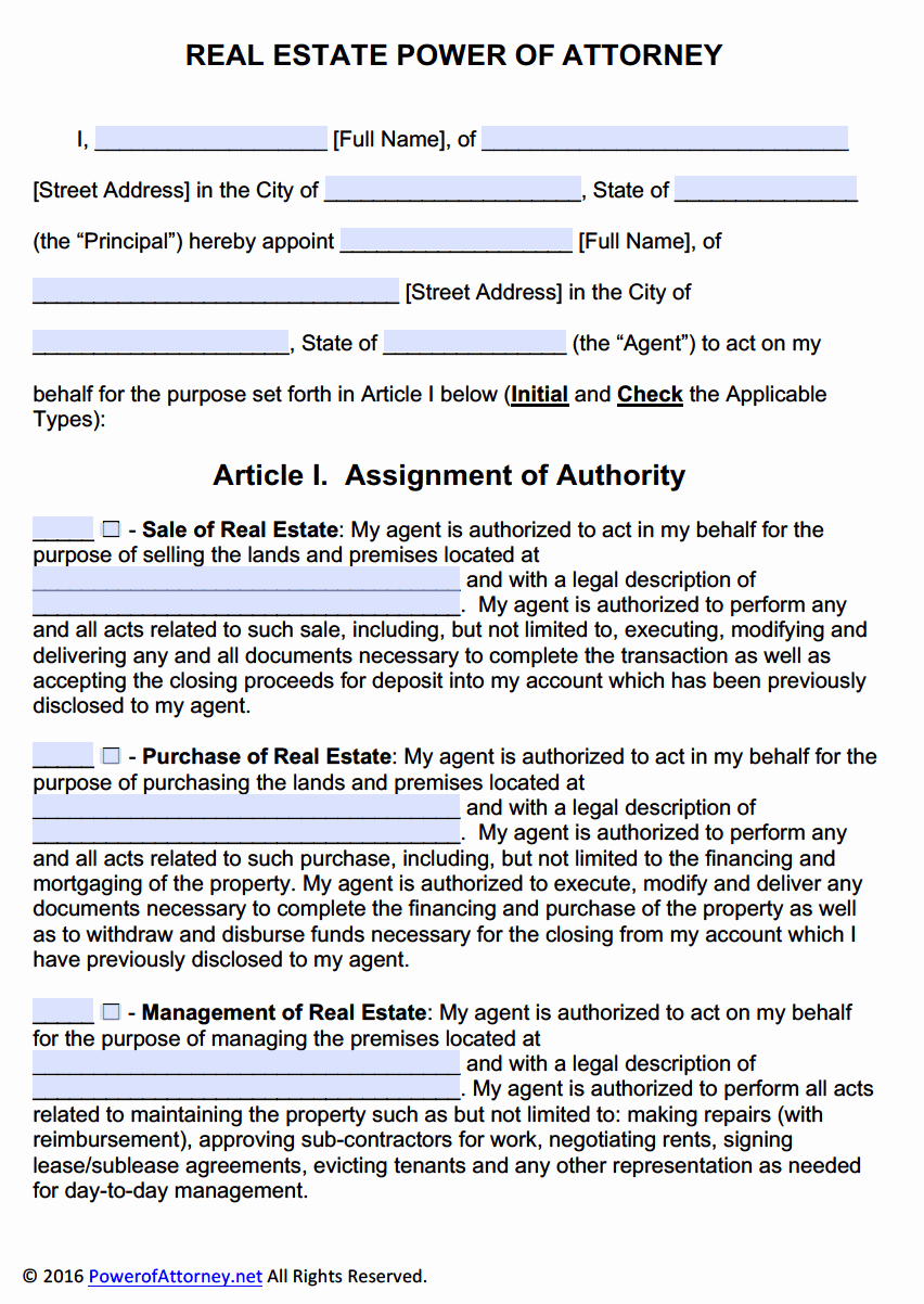 Free Illinois Will Template Elegant Real Estate Power Of attorney form