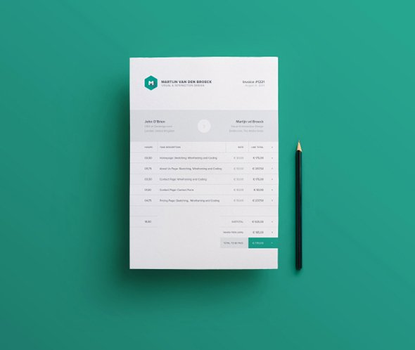 Free Indesign Invoice Template Beautiful 40 Invoice Templates