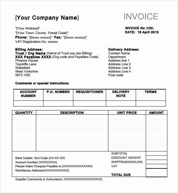 Free Indesign Invoice Template Inspirational 8 Indesign Invoice Templates to Download