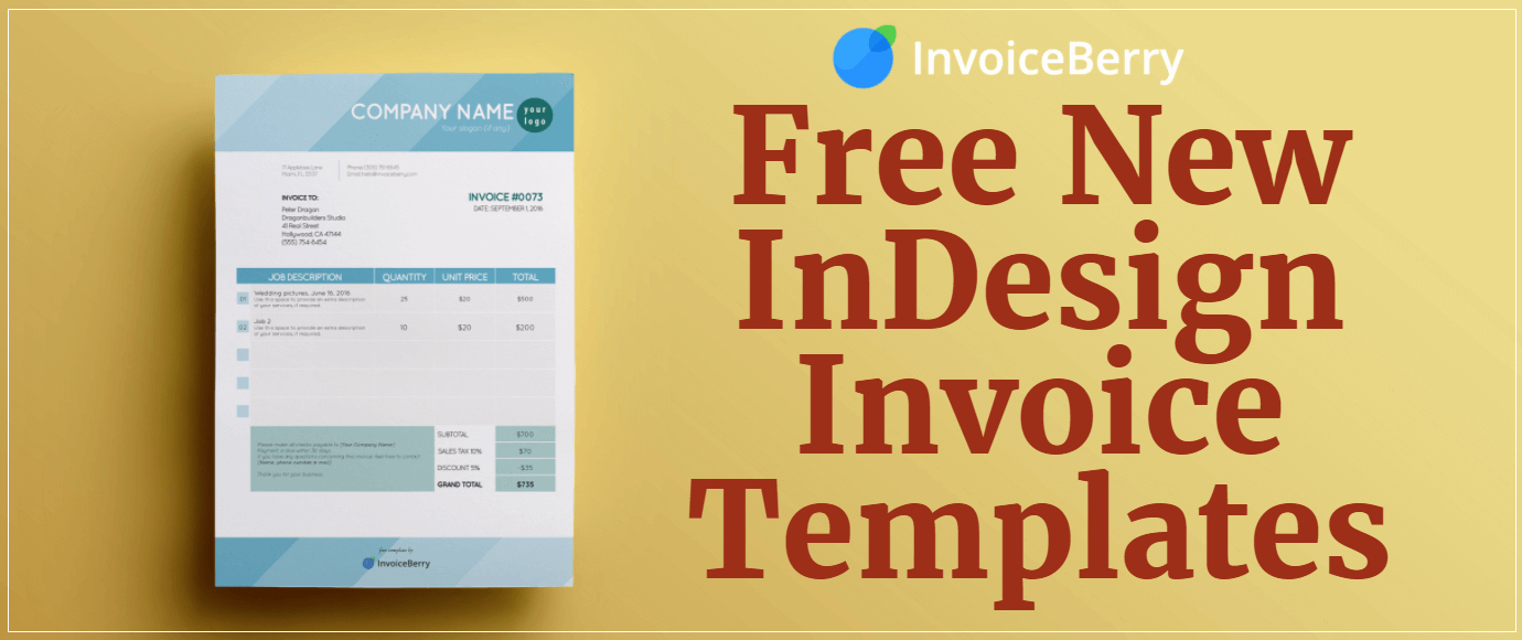 Free Indesign Invoice Template Lovely Free New Indesign Invoice Templates