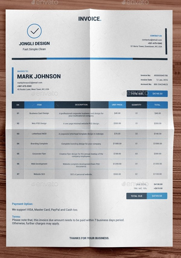 Free Indesign Invoice Template Luxury Indesign Invoice Template 7 Free Indesign format