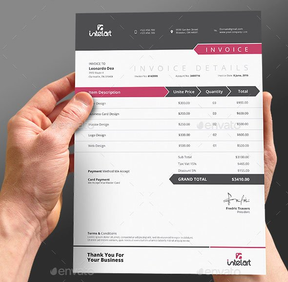 Free Indesign Invoice Template New 37 Best Psd Invoice Templates for Freelancer