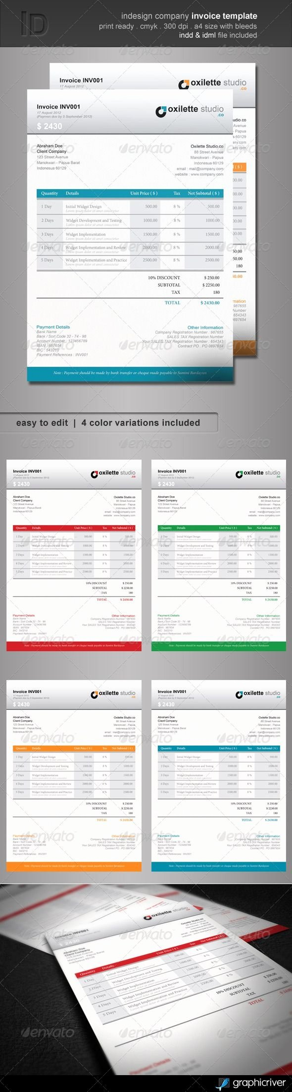 Free Indesign Invoice Template New Indesign Invoice Template Free Invoice Template Ideas
