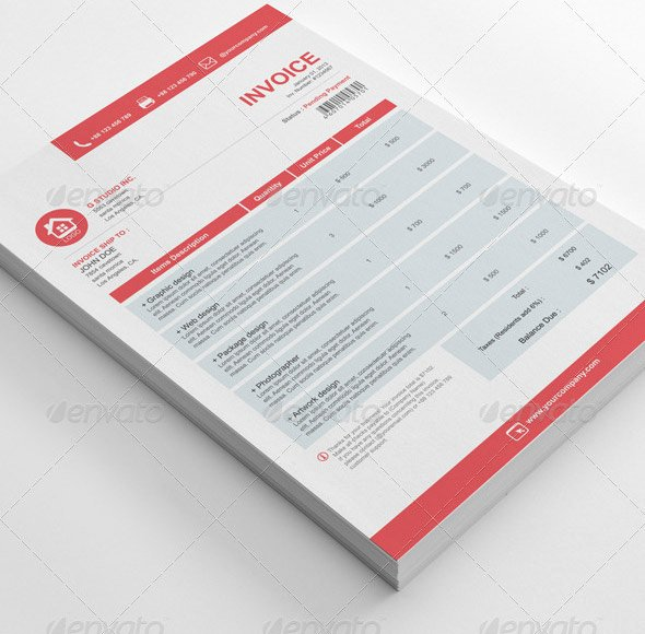 Free Indesign Invoice Template Unique 21 Useful Invoice Indesign Templates – Design Freebies